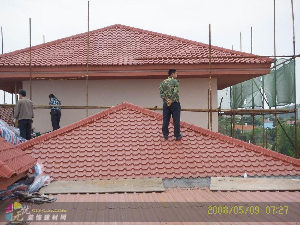 彩钢瓦房顶效果图家庭