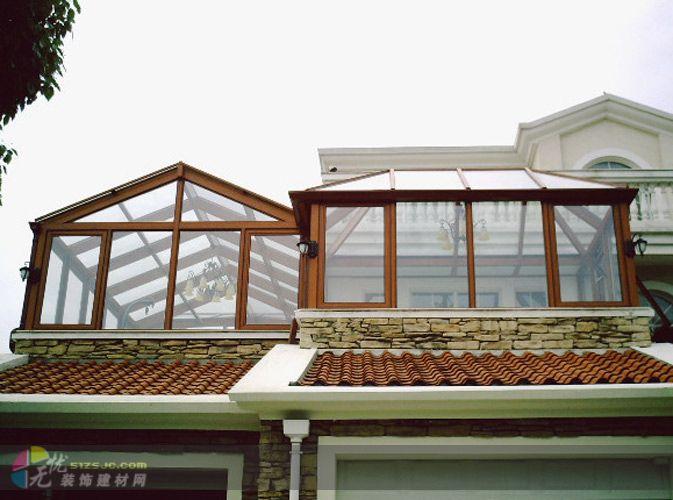 玻璃阳光房; 高档阳光房;; 查看断桥铝阳光房 阳光房设计 夹胶玻璃