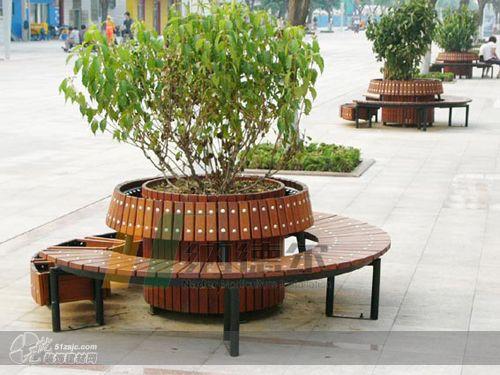 青岛公园椅,围树坐凳