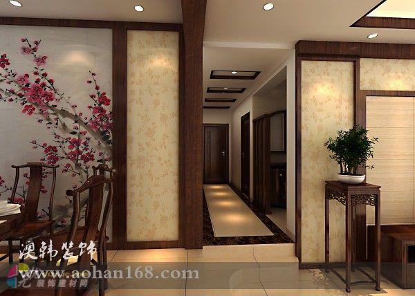 客厅走廊铺砖走廊连客厅铺砖效果图图片5
