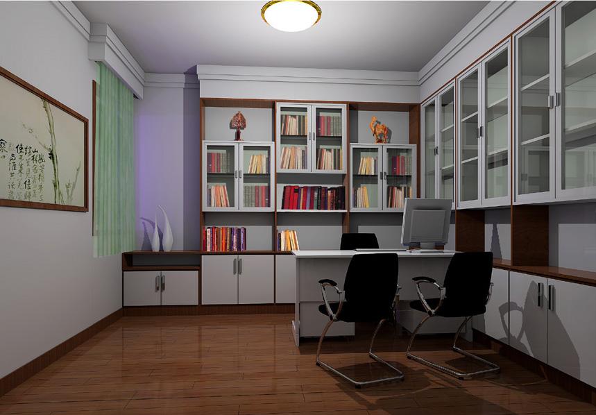 书房1 装饰效果图,室内装修图,装饰图库装,修设计图