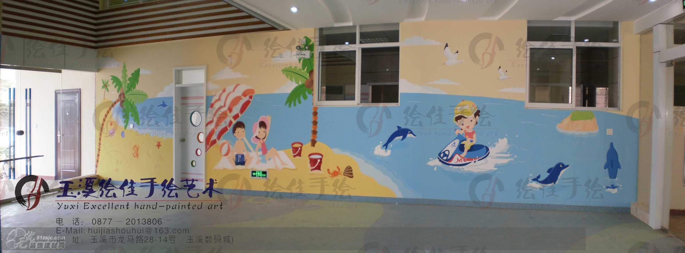 图片标题:幼儿园手绘墙