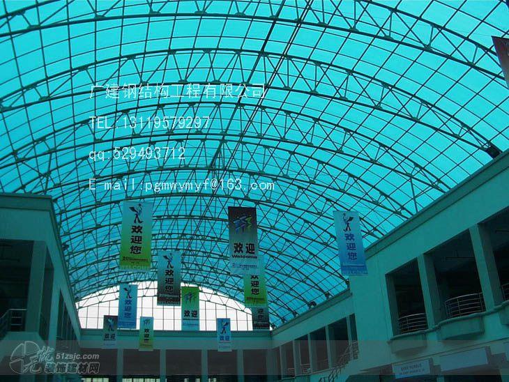 楼顶玻璃雨棚钢结构图片
