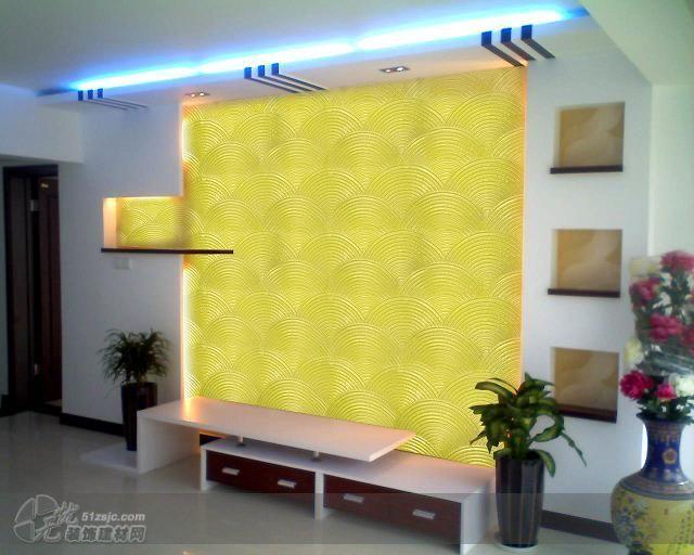 客厅电视背景液体壁纸效果