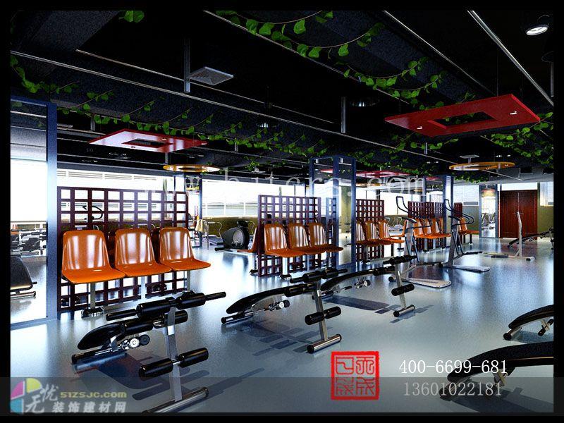 健身房装饰设计效果图施工图