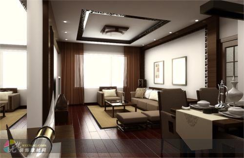 新中式风格 腾虹装饰作品 家居设计图库 效果图,实景图,样