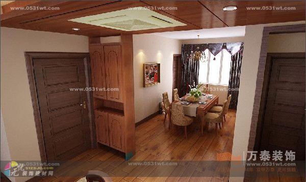 黄金99装修效果图赏析 三室两厅一厨两卫 149平 美式装修风格