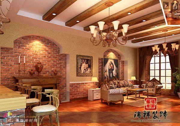 餐饮装修 意大利餐厅豪华气派优雅装修案例 瑞祥装饰作品 高清图片