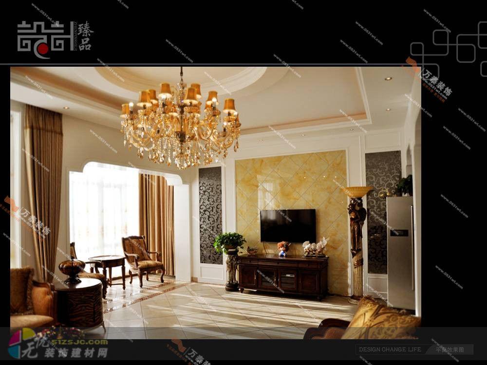 新古典主义风格案例-欧式,棕色,客厅,别墅,20-30万--.