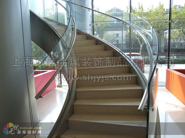 欧美标准钢结构楼梯_上海京艺作品