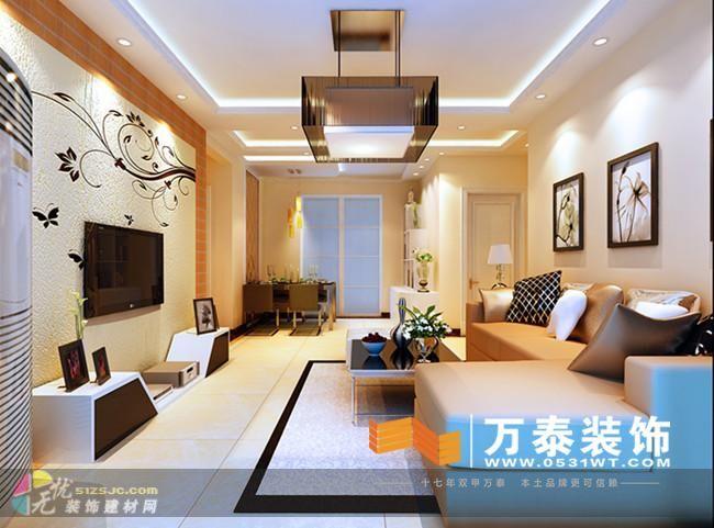 合理利用每一个空间,使用方便,功能合理,影视墙以硅藻泥材料的搭配