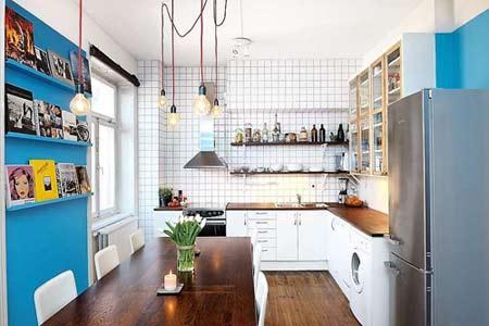 厨房装修效果图-看青岛打工仔省钱装修设计自己82平爱家