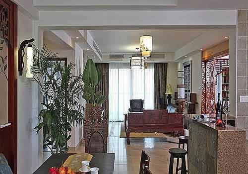 套房客厅红木装修效果图