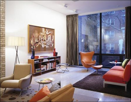 美国纽约都市风格 室内时尚魅力设计(图)