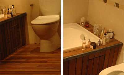地板防水效果过关 卫生间也能铺上实木地板