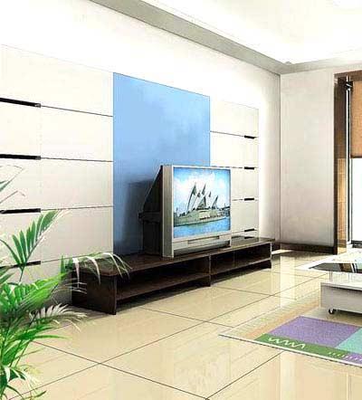 电视背景墙影响客厅风水 玄机由天定!