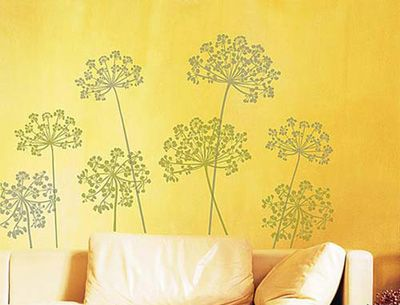 DIY漂亮壁贴缤纷色彩装饰单调墙面