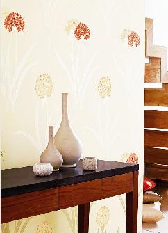 清新墙纸给家也披上春装