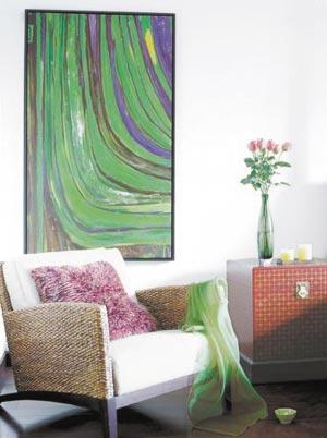 用墙上艺术装点秋冬居室空间