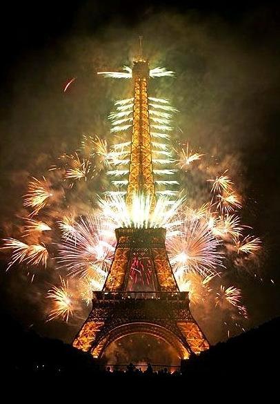法国巴黎埃菲尔铁塔风景图片